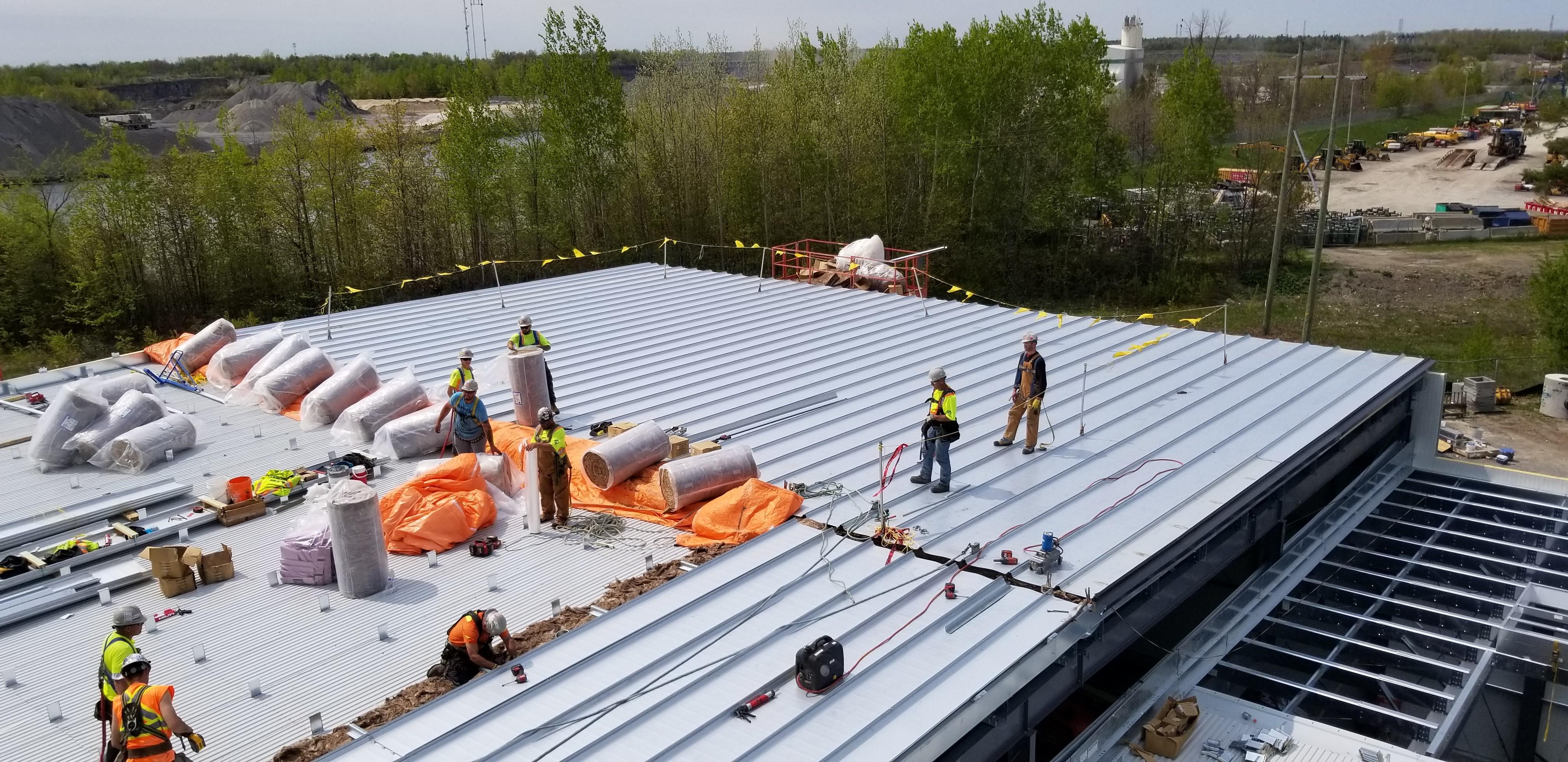 BBS Erectors Installing Butler TLS Roof System